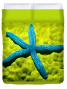 Blue Starfish On Poritirs Duvet Cover