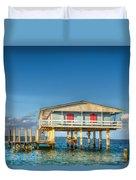 Blue Stiltsville House Duvet Cover