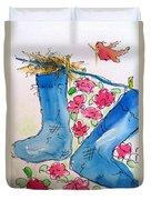 Blue Stockings Duvet Cover