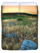 blue stones amongst the olive groves near Iznajar Andalucia Spain Duvet Cover