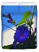 Blue Summer Flower Duvet Cover