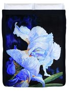 Blue Summer Iris Duvet Cover