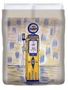 Blue Sunoco Gas Pump Duvet Cover