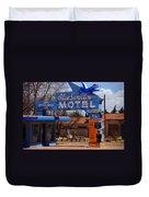 Blue Swallow Motel On Route 66 Duvet Cover