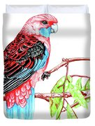 Blue Tail Parrot - Green Day Duvet Cover