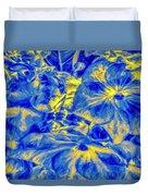 Blue Tango Floral Duvet Cover