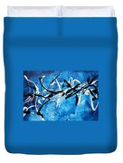 Blue Texture By Madart Duvet Cover