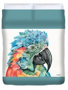 Blue-throated Macaw Duvet Cover