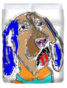 Blue Tic Hound Colorful Duvet Cover