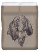 Blue Tick Coonhound Duvet Cover