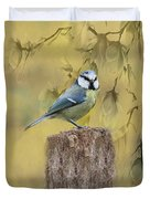 Blue Tit Bird II Duvet Cover