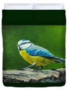 Blue Tit Bird Duvet Cover