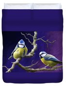 Blue Titmouse Duvet Cover