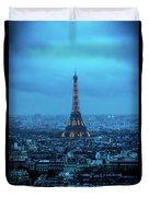 Blue Tower Duvet Cover