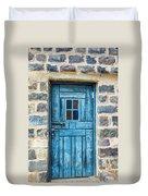 Blue Traditional Door Duvet Cover