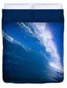Blue Translucent Wave Duvet Cover