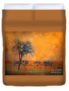 Blue Trees And Dreams Duvet Cover