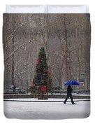 Blue Umbrella Duvet Cover
