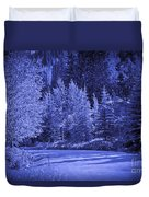 Blue Vail Duvet Cover
