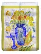 Blue Vase Duvet Cover