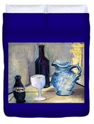 Blue Vases Duvet Cover