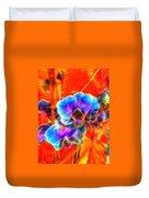 Blue Velvet Orchids Duvet Cover