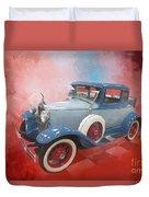 Blue Vintage Car Duvet Cover