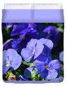 Blue Violets Duvet Cover