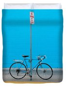 Blue Wall Bicycle Duvet Cover