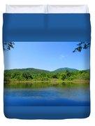 Blue Wall Lake Duvet Cover