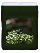 Blue Wasp 1 Duvet Cover
