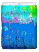 Blue Water And Sky Abstract Duvet Cover
