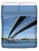 Blue Water Bridge Duvet Cover