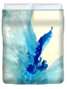 Blue Water Flower Duvet Cover by KR Moehr