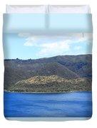 Blue Water Green Islands Duvet Cover