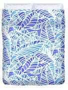 Blue Water Leaves Duvet Cover