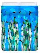 Blue Waterfalls And Teardrops Duvet Cover