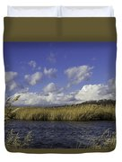 Blue Waters Of The Marsh Duvet Cover