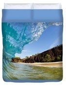 Blue Wave - Makena Beach Duvet Cover