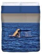Blue Whales Tail Duvet Cover