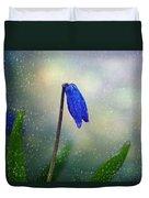 Blue Wild Flower Duvet Cover