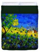Blue Wild Flowers Duvet Cover