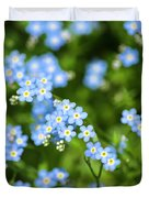 Blue Wildflowers Forget Me Nots Duvet Cover