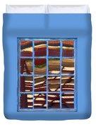 Blue Window 2 Duvet Cover