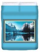 Blue Winter Fantasy. L B With Alt. Decorative Ornate Printed Frame. Duvet Cover