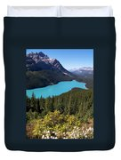 Blue Wolf In The Valley Duvet Cover