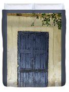 Blue Wood Door Duvet Cover