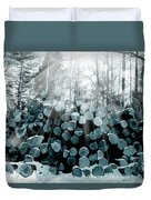 Blue  Wood Duvet Cover
