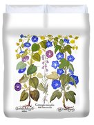 Bluebell And Morning Glory Duvet Cover