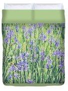 Bluebell Bluebells Flowers Blooming In Spring Duvet Cover